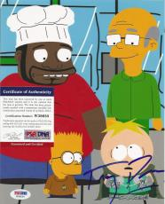 Trey Parker South Park Psa/dna Coa Signed Autograph Simpsons 8x10 Photo Butters