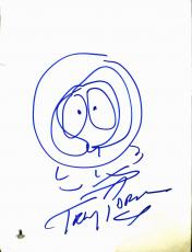Trey Parker South Park Signed 9x12 Kenny McCormick Sketch BAS #B03497