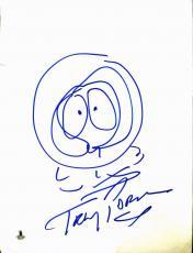 Trey Parker South Park Signed 9x12 Kenny McCormick Sketch BAS #B03497