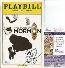Trey Parker South Park Signed Kenny Sketch Playbill The Book Of Mormon Jsa Coa