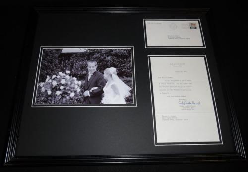 Tricia Nixon Cox Framed 16x20 ORIGINAL 1973 Letter & Photo Display w/ Richard
