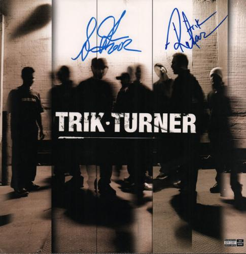 Trik Turner Autographed Signed x2 Album Lp Flat UACC RD COA AFTAL