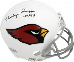 "Charley Trippi Chicago Cardinals Autographed Riddell Mini Helmet with ""HOF 68"" Inscription"