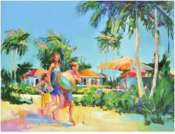 Tropical Scene (family) Original Artwork