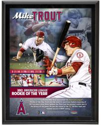 "Mike Trout Los Angeles Angles of Anaheim 2012 AL ROY Winner Sublimated 10"" x 13"" Player Collage Photo Plaque"