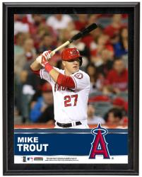 "Mike Trout Los Angeles Angels of Anaheim Sublimated 10.5"" x 13"" Plaque"