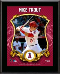 Mike Trout Los Angeles Angels of Anaheim Sublimated 10.5'' x 13'' Stylized Plaque - Mounted Memories