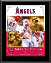 Mike Trout Los Angeles Angels of Anaheim Sublimated 10.5'' x 13'' Composite Plaque - Mounted Memories