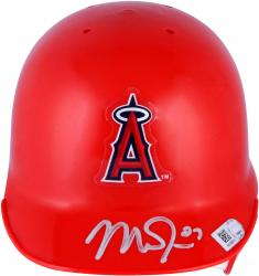 Mike Trout Los Angeles Angels of Anaheim Autographed Mini Batting Red Helmet