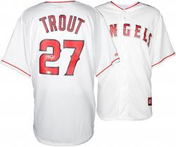 Mike Trout Los Angeles Angels of Anaheim Autographed Majestic Replica White Jersey - Mounted Memories