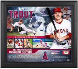 "Mike Trout Los Angeles Angels of Anaheim 2012 American League ROY Framed 15"" x 17"" Collage with Game-Used Baseball - Limited Edition of 227"
