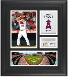 "Mike Trout Los Angeles Angels of Anaheim Framed 15"" x 17"" Collage with Game-Used Baseball"