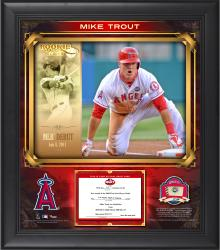 "Mike Trout Los Angeles Angels of Anaheim Top Prospects Framed 15"" x 17"" Collage with Piece of Game-Used Baseball-Limited Edition of 99"