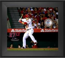 "Mike Trout Los Angeles Angels of Anaheim Framed 20"" x 24"" Gamebreaker Photograph with Game-Used Ball"