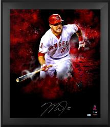 Limited Edition Mike Trout Framed Autographed 20'' x 24'' In Focus Photograph with Multiple Inscriptions - LE #2-23
