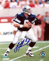 """Troy Aikman Dallas Cowboys Autographed 8"""" x 10"""" Blue Uniform Photograph"""