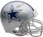 Troy Aikman Dallas Cowboys Autographed Pro-Line Riddell Authentic Helmet with HOF 2006 Inscription