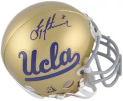 Troy Aikman UCLA Bruins Autographed Mini Helmet - Mounted Memories