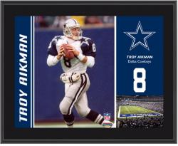 "Troy Aikman Dallas Cowboys Plaque Sublimated 10.5"" x 13"" Plaque - Mounted Memories"