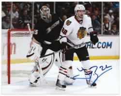 "Chicago Blackhawks Troy Brouwer Autographed 8"" x 10"" Photo --"