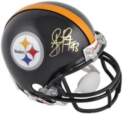 Troy Polamalu Pittsburgh Steelers Autographed Riddell Mini Helmet - Mounted Memories