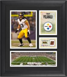 "Troy Polamalu Pittsburgh Steelers Framed 15"" x 17"" Collage with Game-Used Football"