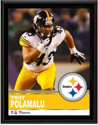 Troy Polamalu Pittsburgh Steelers Sublimated 10.5'' x 13'' Plaque - Mounted Memories
