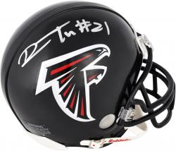 Desmond Trufant Atlanta Falcons Autographed Riddell Mini Helmet - Mounted Memories
