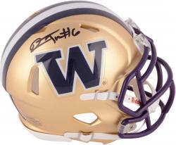 Desmond Trufant Washington Huskies Autographed Riddell Mini Helmet - Mounted Memories