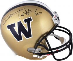 Desmond Trufant Washington Huskies Autographed Riddell Replica Helmet - Mounted Memories