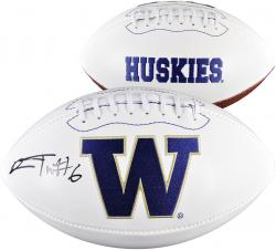 Desmond Trufant Washington Huskies Autographed White Panel Football
