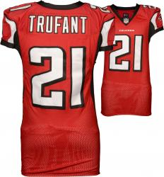 Desmond Trufant 2013 Game Used Falcons Red Home Jersey