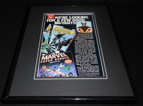 TSR 1987 Marvel Super Heroes 11x14 Framed ORIGINAL Vintage Advertisement