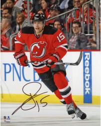 "Tuomo Ruutu New Jersey Devils Autographed Red Jersey Skating 8"" x 10"" Photograph"
