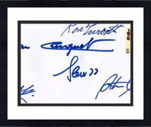 Turcotte+steve Cauthen+pincay+cruguet Hand Signed Seabiscuit Envelope+coa