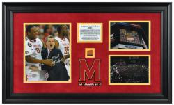 Framed Mark Turgeon Autographed Collage with Game Used Basketball