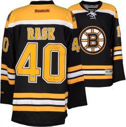 Tuukka Rask Boston Bruins Autographed Black Reebok Premier Jersey with 2014 Vezina Inscription