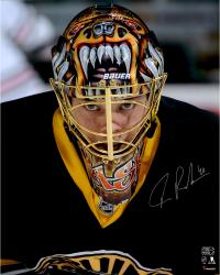 "Tuukka Rask Boston Bruins Autographed Mask Close-Up 16"" x 20"" Photograph"