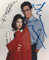 "TV Series ""LOIS & CLARK: THE NEW ADVENTURES of SUPERMAN"" Signed by DEAN CAIN as CLARK KENT and TERI HATCHER as LOIS LANE 8x10 Color Photo"