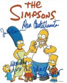 """TV Series """"THE SIMPSONS"""" Signed by DAN CASTELLANETA as HOMER, NANCY CARTWRIGHT as BART, JULIE KAVNER as MARGE, and YEARDLEY SMITH as LISA - Signed by all Four 8x10 Color Photo"""