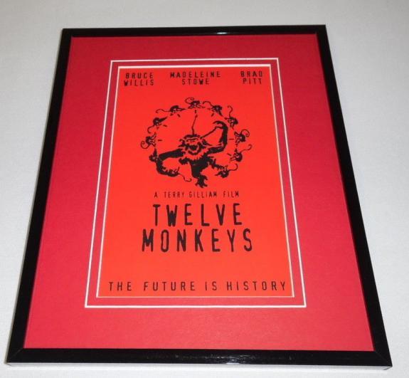 Twelve Monkeys Framed 8x10 Repro Poster Display Bruce Willis Brad Pitt