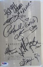 Twilight Cast (9) Signed Authentic Book w/ Kristen Stewart PSA/DNA #I88777