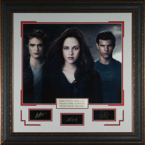Twilight Cast Laser Engraved Signature Framed Photo