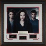 Twilight Cast Laser Engraved Signature Framed Photo