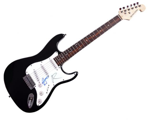 Twilight Kristen Robert Autographed Signed Guitar UACC RD COA AFTAL