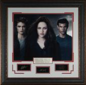 Twilight unsigned Cast Photo 31x32 Engraved Signature Series w/ Premium Leather Framed (entertainment photo)