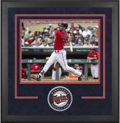 "Minnesota Twins Deluxe 16"" x 20"" Horizontal Photograph Frame - Mounted Memories"