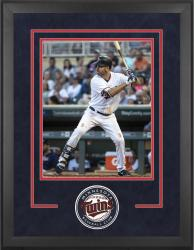 "Minnesota Twins Deluxe 16"" x 20"" Vertical Photograph Frame - Mounted Memories"