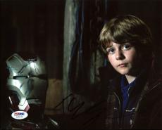 Ty Simpkins Iron Man 3 Signed 8X10 Photo Autographed PSA/DNA #AC45116