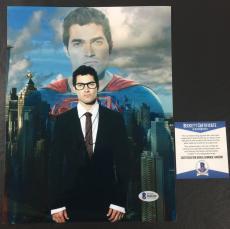 TYLER HOECHLIN SIGNED AUTOGRAPHED SUPERGIRL 'SUPERMAN' 8x10 BAS COA BECKETT 1